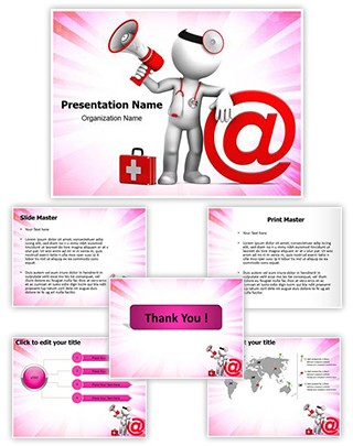 Medical Email Editable PowerPoint Template
