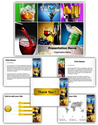 Alcohols Editable PowerPoint Template