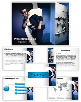 Bank Robbery Editable PowerPoint Template