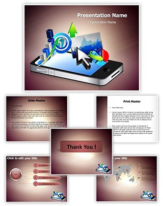 Business Phone Editable PowerPoint Template