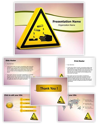 Corrosive Sign Editable PowerPoint Template
