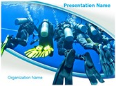 Scuba Divers Group Editable PowerPoint Template