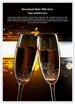 Cheers Flutes Editable Word Template