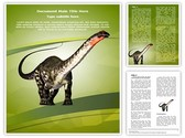 Herbivore Dinosaur Editable Word Template