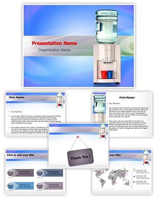 Water Cooler Editable PowerPoint Template