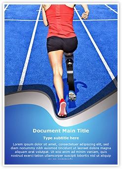 Handicap Athlete Editable Word Template