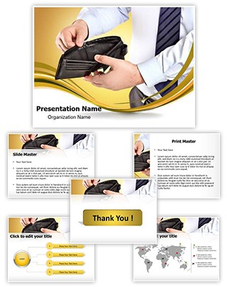 Empty Wallet Editable PowerPoint Template
