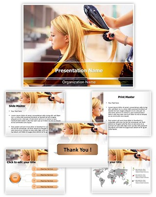 Hair Salon Editable PowerPoint Template
