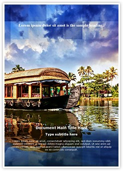 Kerala Tourism Editable Word Template