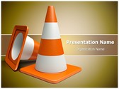 Road Cones vlc Editable PowerPoint Template