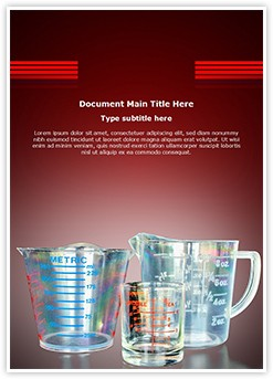 Measuring Cups Editable Word Template