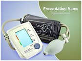 Blood Pressure Monitor Editable PowerPoint Template