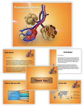 Alveoli in Lungs Editable PowerPoint Template