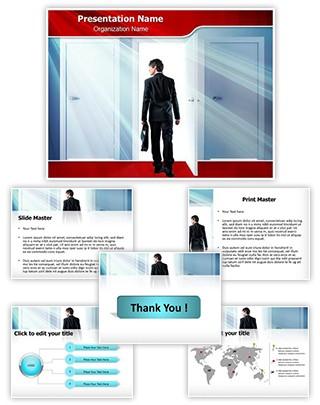 Door to Success Editable PowerPoint Template