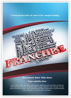 Franchise Word Editable Word Template
