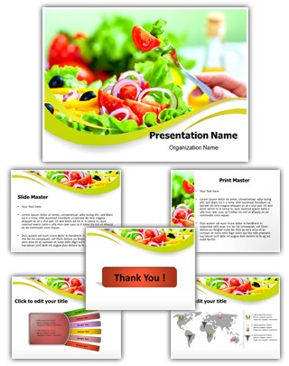 Healthy Fruit Salad Diet Editable PowerPoint Template