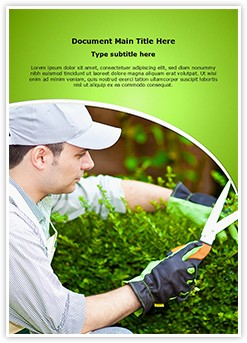 Gardener Editable Word Template