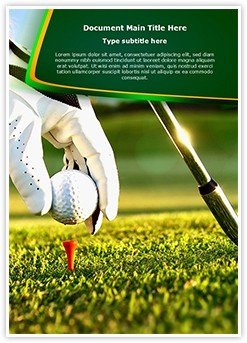 Golf Ball Tee Editable Word Template