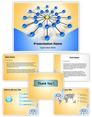 Networking Editable PowerPoint Template