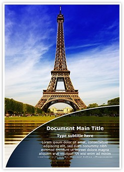 Paris Eiffel Tower Editable Word Template