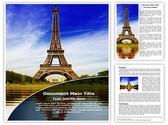 Paris Eiffel Tower Editable Word Template