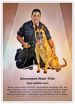 Police K9 Dog Editable Word Template