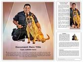 Police K9 Dog Editable Word Template