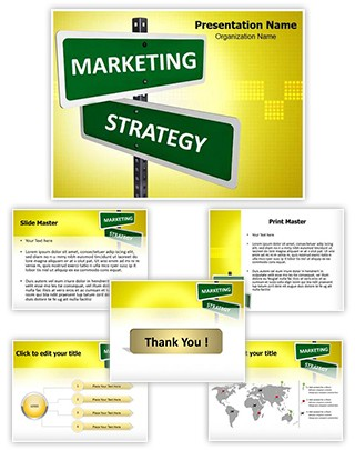 Marketing Strategy Editable PowerPoint Template