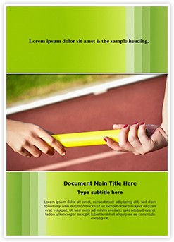 Relay Race Baton Editable Word Template