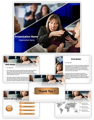 Office Fight Editable PowerPoint Template
