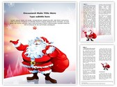 Santa Claus Snowfall Editable Word Template