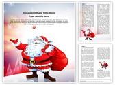 Santa Claus Snowfall Editable Word Template