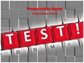 Test Words Editable PowerPoint Template