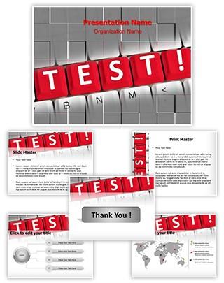 Test Words Editable PowerPoint Template