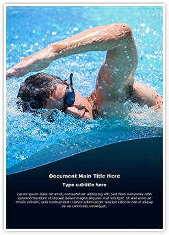 Swimming Athlete Editable Word Template