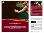 Tennis Player Editable Word Template