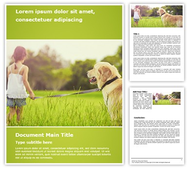 Dog Free Word Template