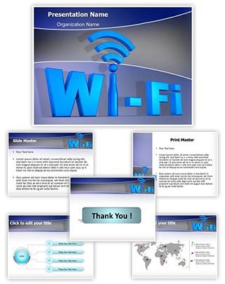 Wifi Network Technology Editable PowerPoint Template