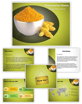 Turmeric Powder Editable PowerPoint Template
