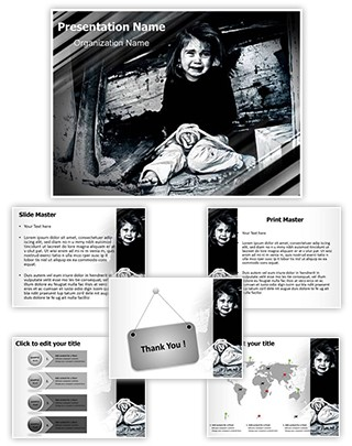 Child Sex Trafficking Editable PowerPoint Template