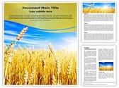 Wheat Field Editable Word Template