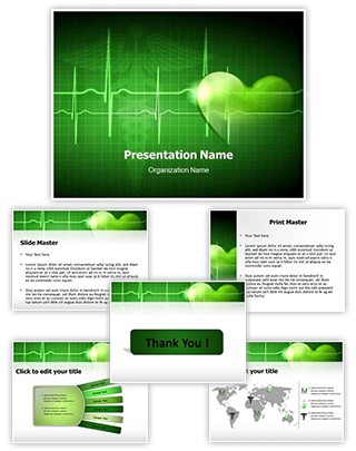 Heart Beat Editable PowerPoint Template