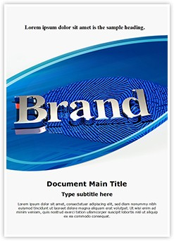 Brand Identity Editable Word Template