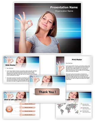 Approval Gesture Editable PowerPoint Template