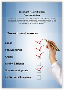 Investment Sources Editable Word Template