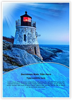 Lighthouse Castle Editable Word Template