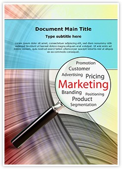 Marketing Concept Editable Word Template
