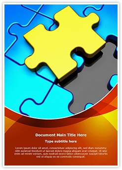 Puzzle Piece Missing Editable Word Template