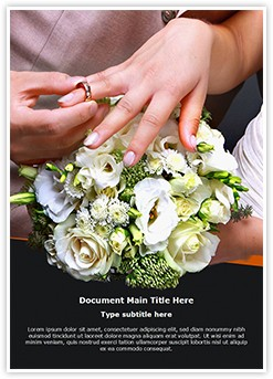 Wedding Ring Ceremony Editable Word Template