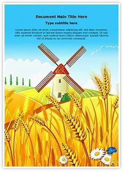 Rural Scenery Editable Word Template
